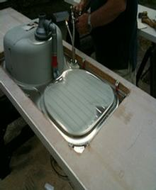 fitting of a kitchen sink